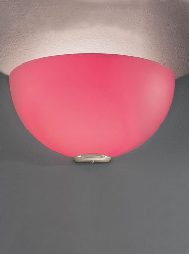 Franklite WB060/948 Satin Nickel & Red Wall Light